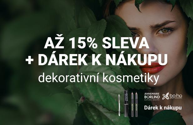 Až 15% sleva + dárek k nákupu dekorativní kosmetiky