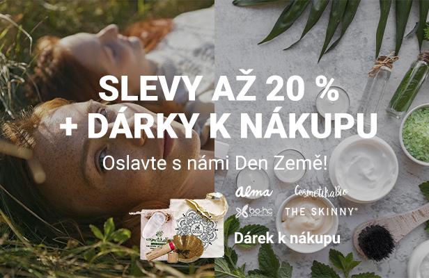 Den země - kosmetika: Slevy až 20% + dárky k nákupu