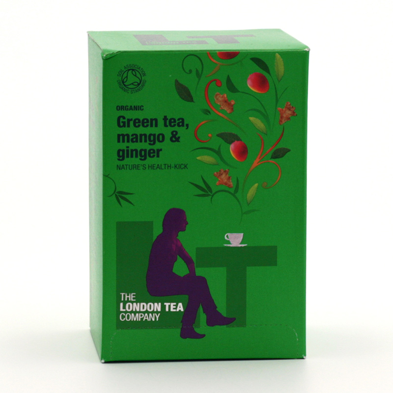 London Tea Zelený čaj mango a zázvor 20 ks, 40 g