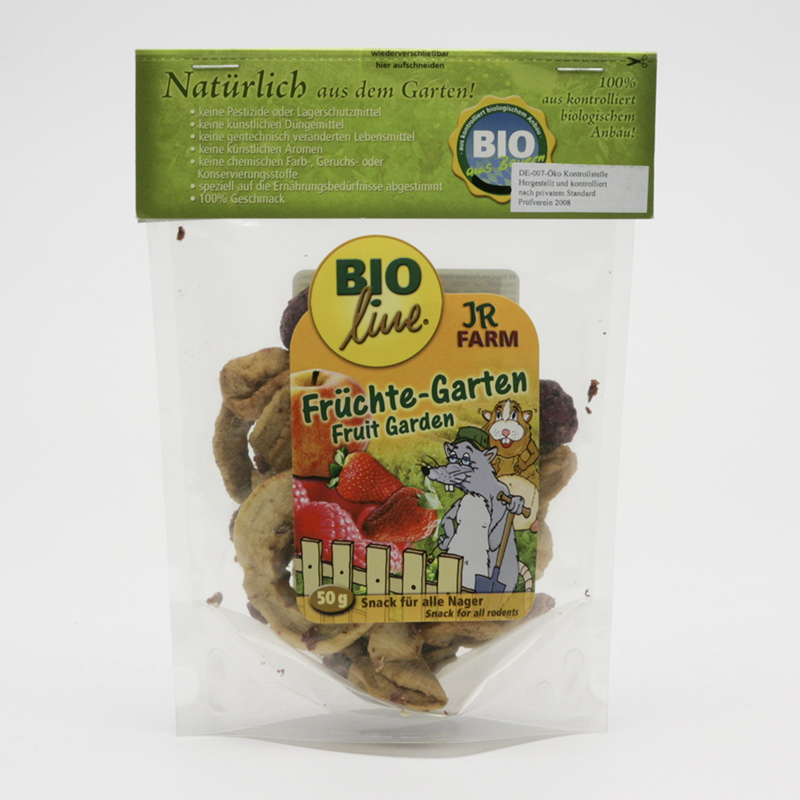 JR Farm Biopamlsky pro hlodavce, Fruit Garden 50 g