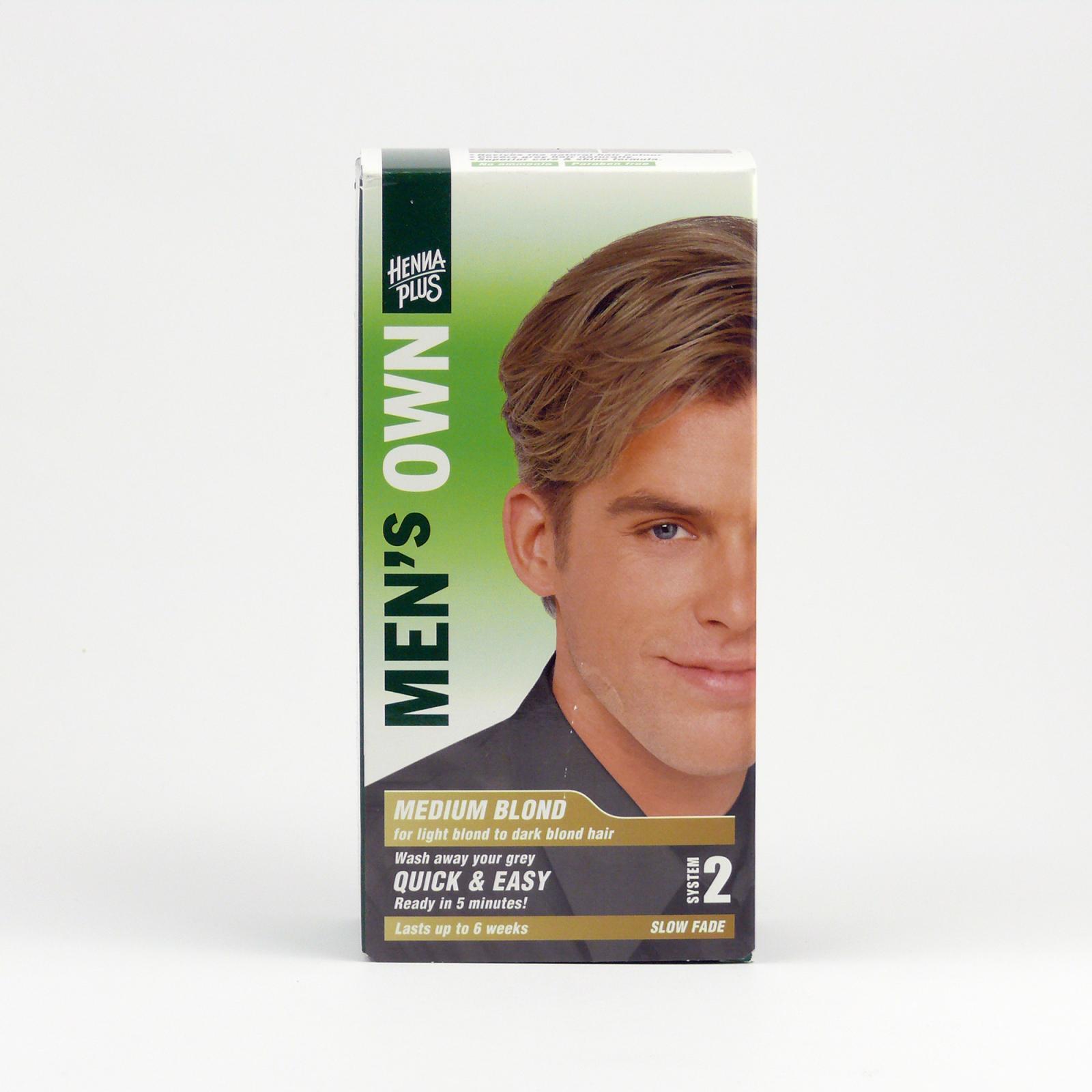 Henna Plus Barva pro muže Střední blond 80 ml