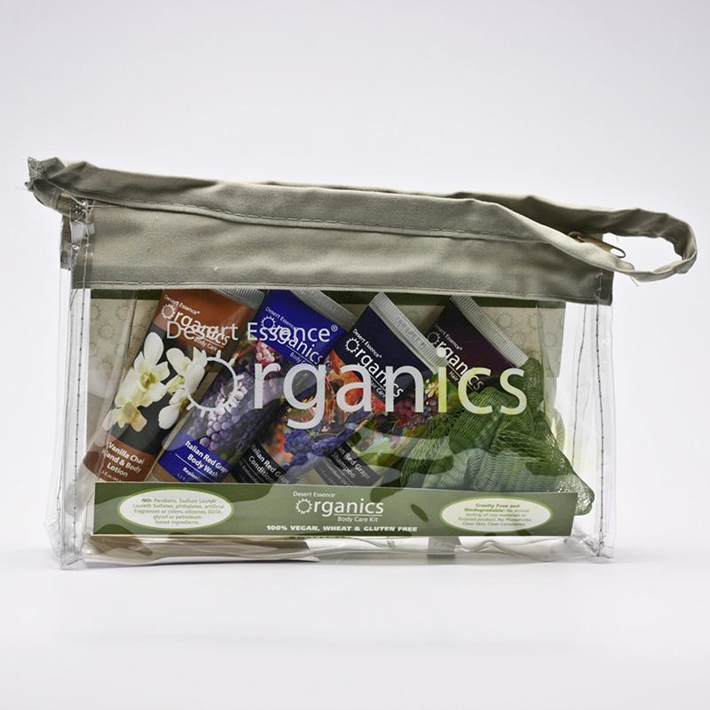 Desert Essence x Cestovní balíček červené hrozny 4 x 44,4 ml, taštička