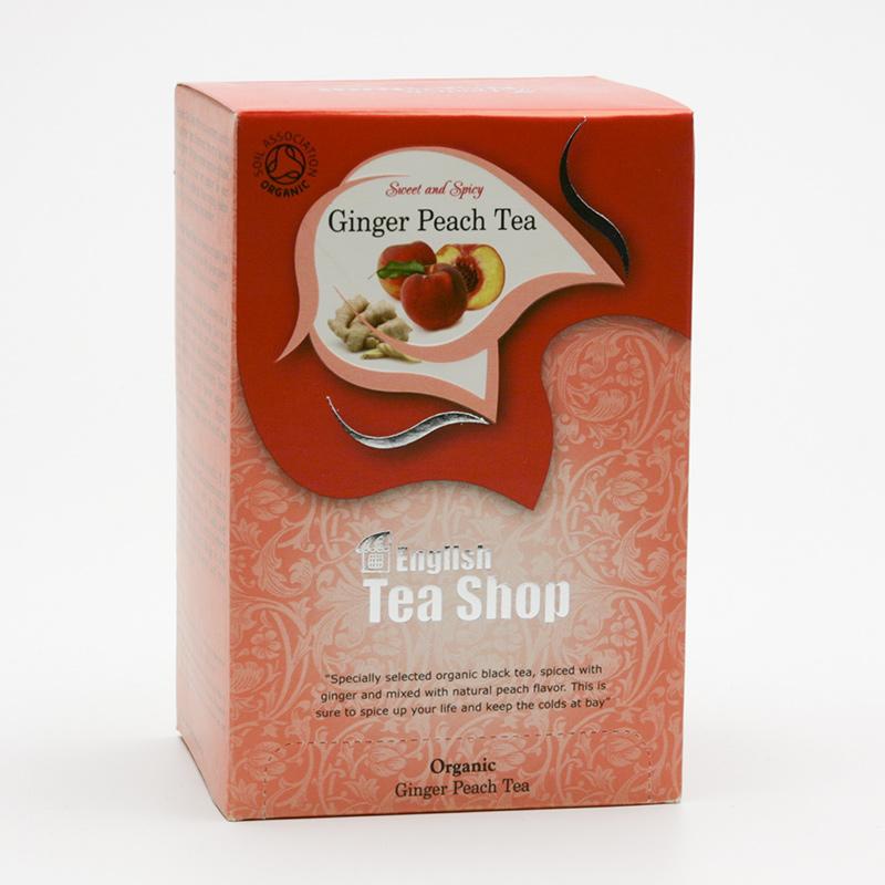 English Tea Shop x Čaj zázvor a broskev 20 ks, 40 g