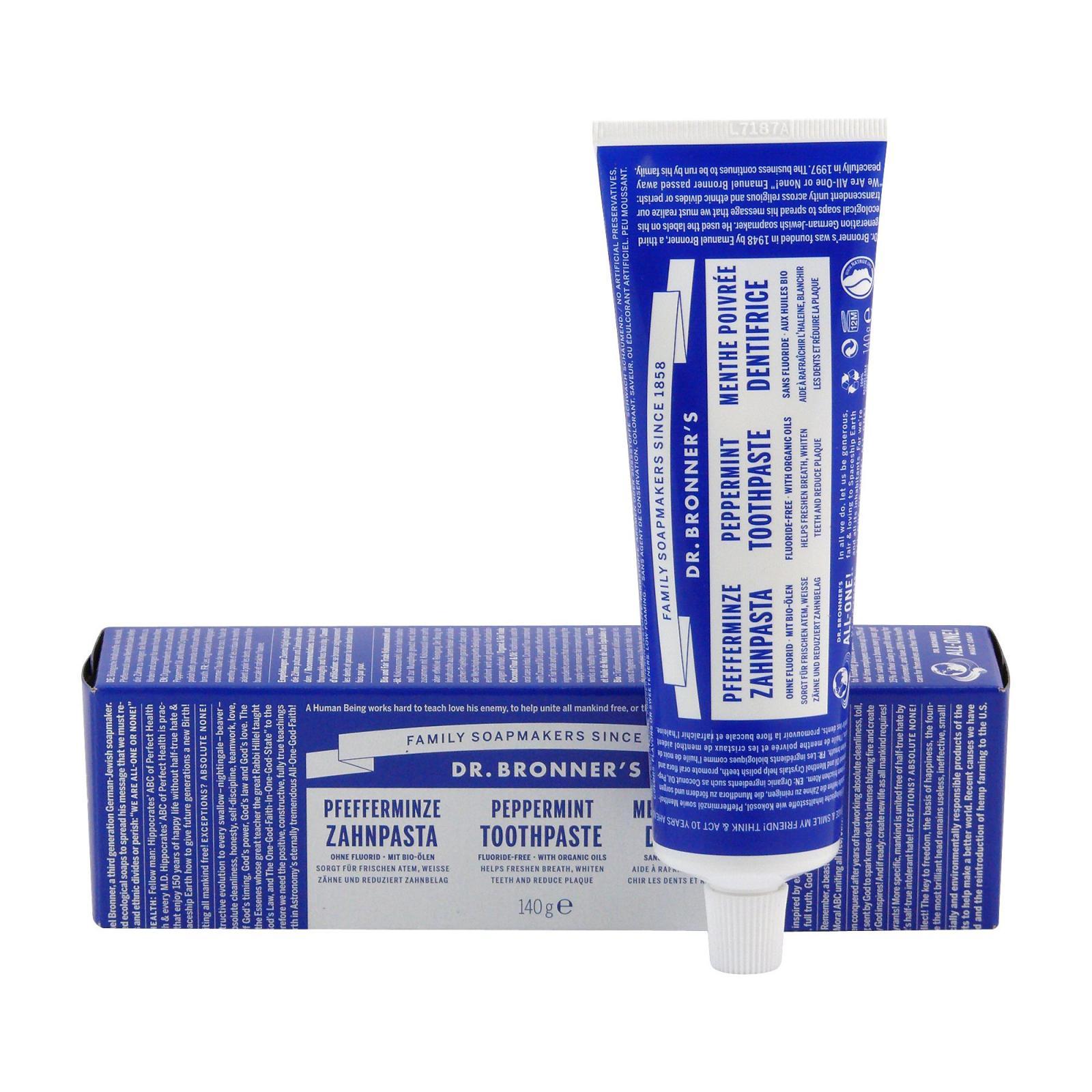 Dr. Bronner's Zubní pasta, Peppermint 140 g