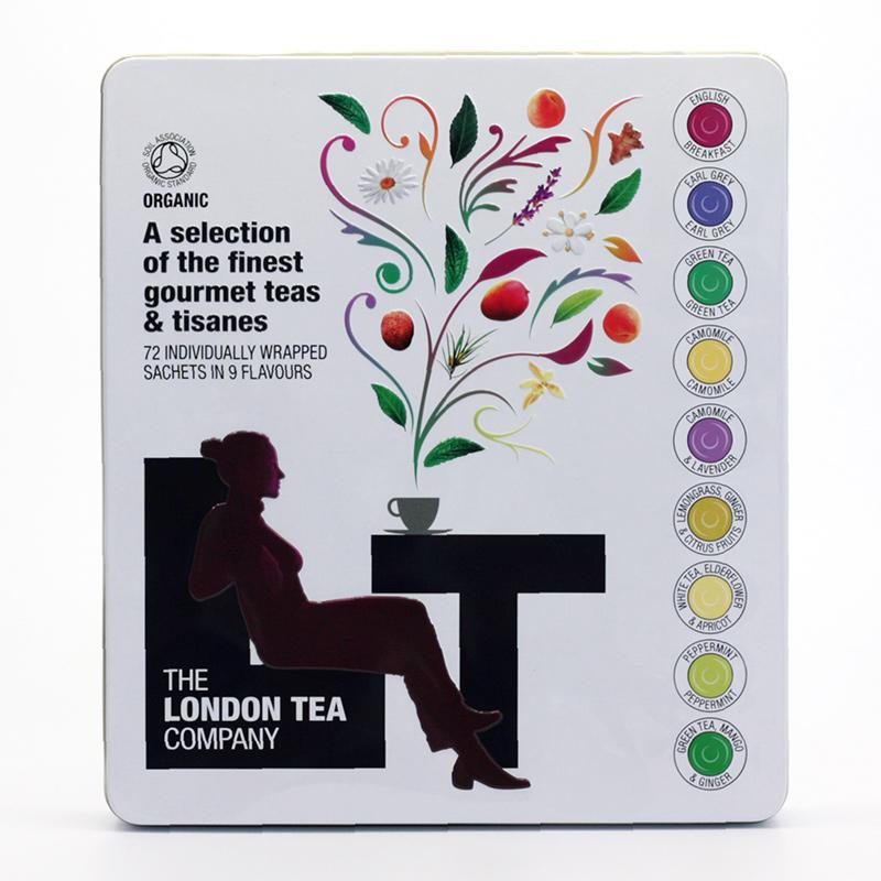 London Tea Dárková kazeta, mix 9 druhů čajů 72 ks, 112 g