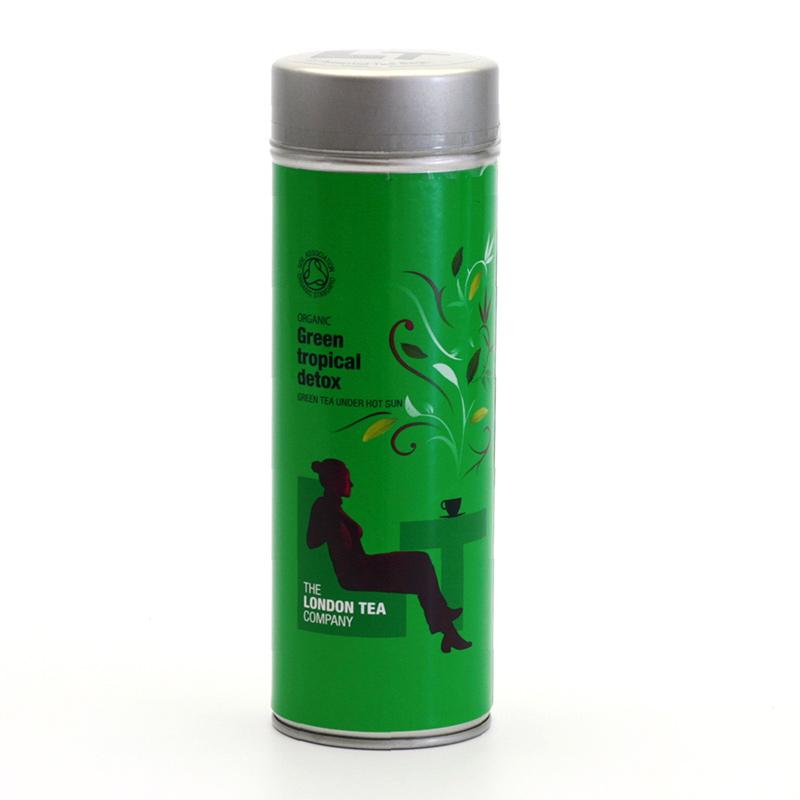 London Tea Zelený čaj mango a zázvor, plech. krabička 15 ks, 30 g