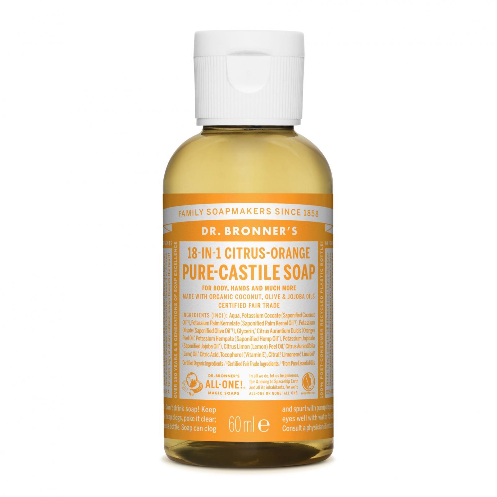 Dr. Bronner´s Tekuté universální mýdlo ALL-ONE!, Citrus-Orange 60 ml