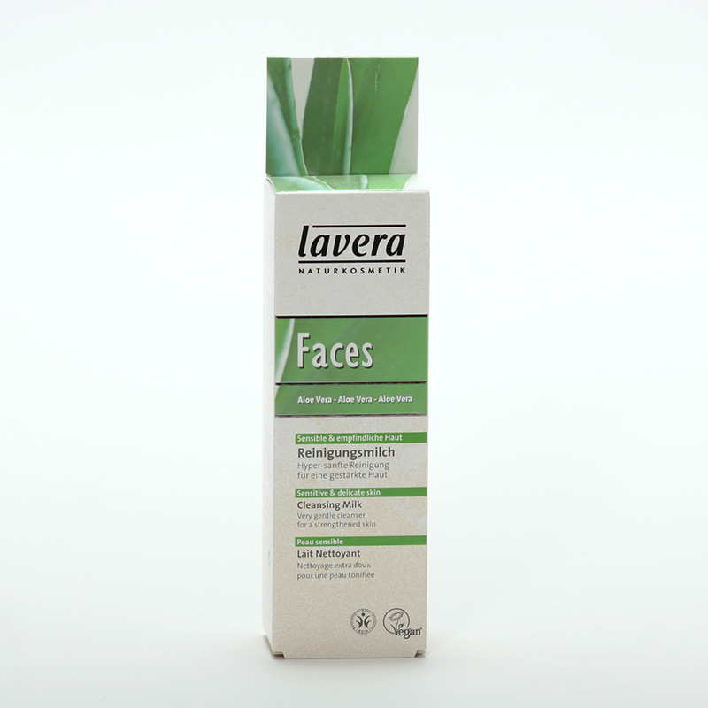 Lavera xxČistící pleťové mléko aloe vera, Faces 75 ml