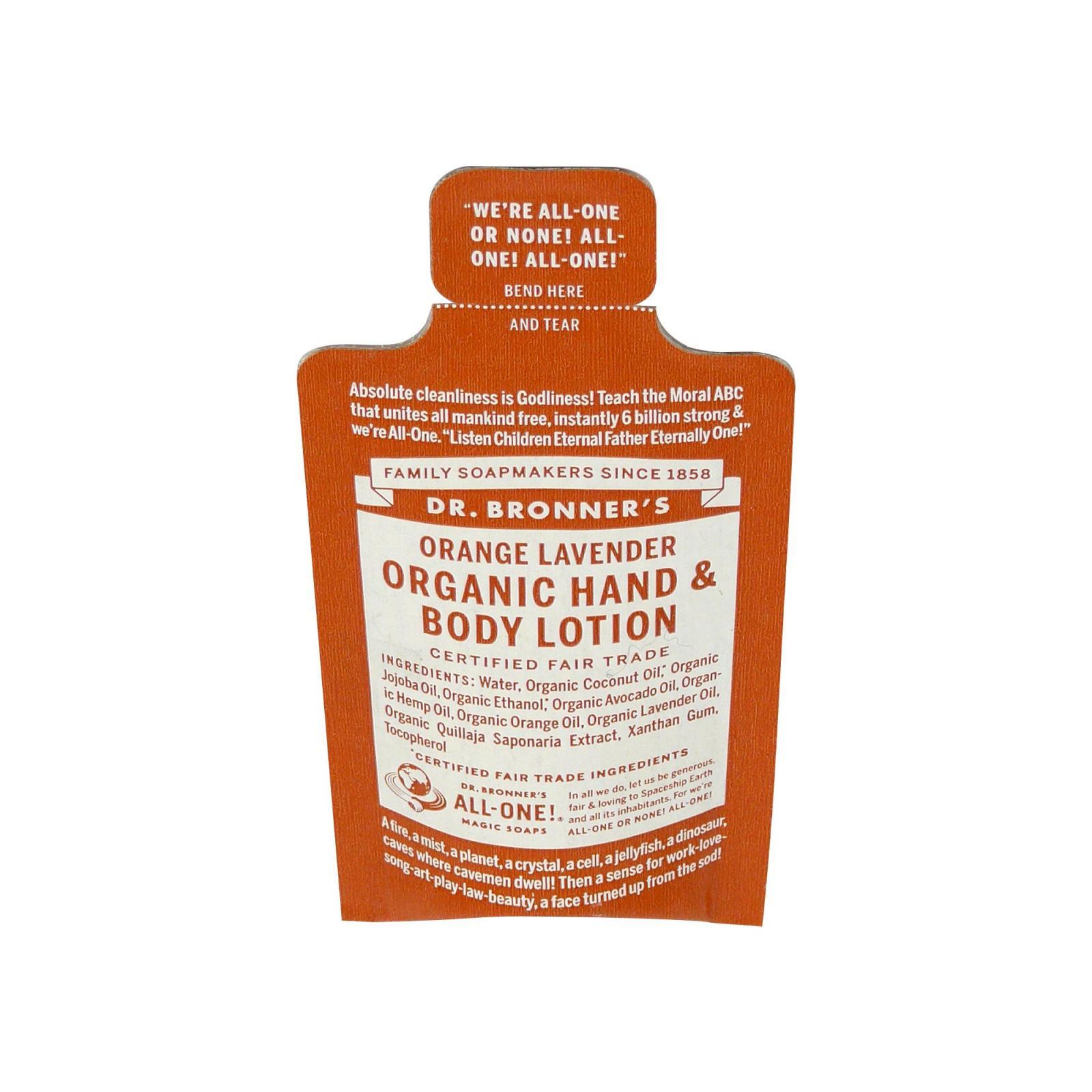 Dr. Bronner's Tělové mléko Orange-Lavender 5 ml