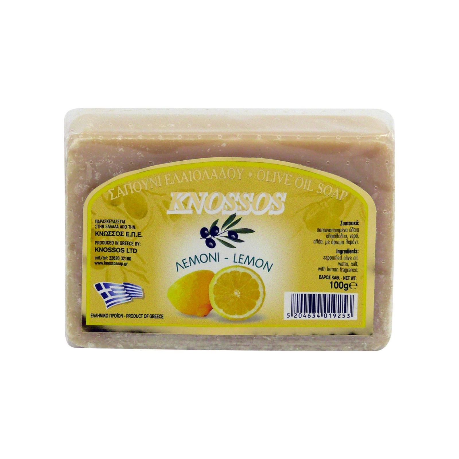 Knossos Mýdlo tuhé olivové, citron 100 g