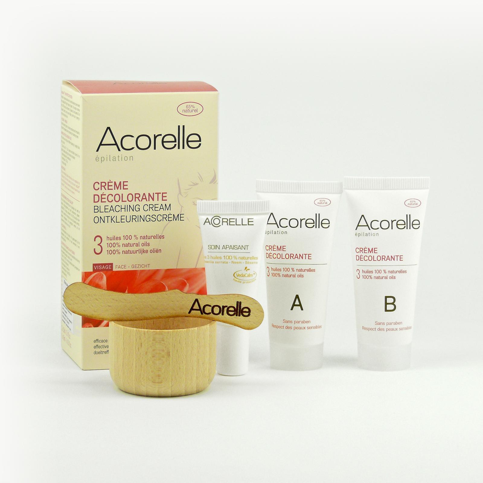 Acorelle Bělicí krém na obličej a tělo 2x30 ml, 1x15 ml, špachtle