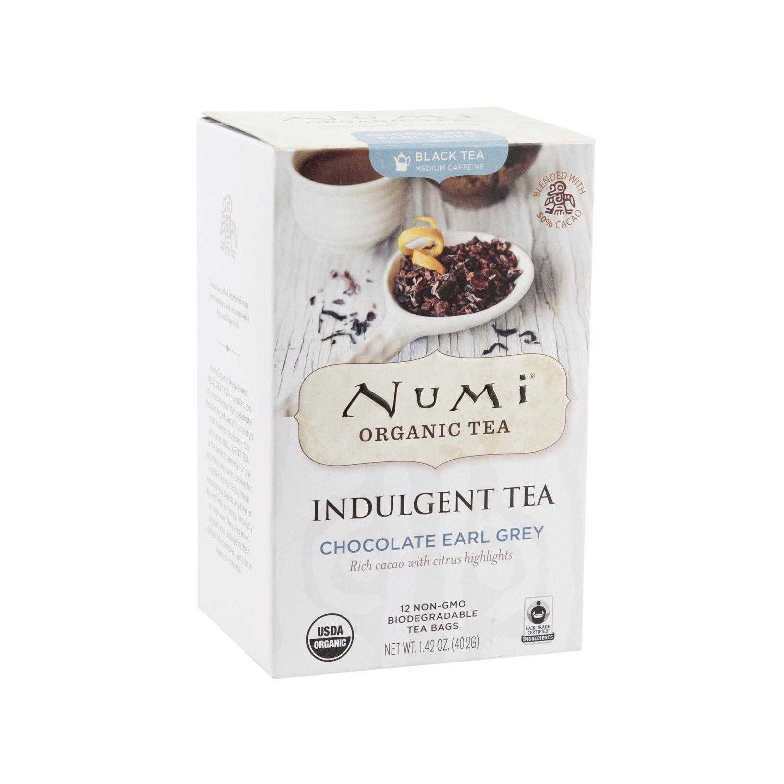 Numi Čokoládový čaj Earl Grey, Indulgent Tea 12 ks, 40,2 g
