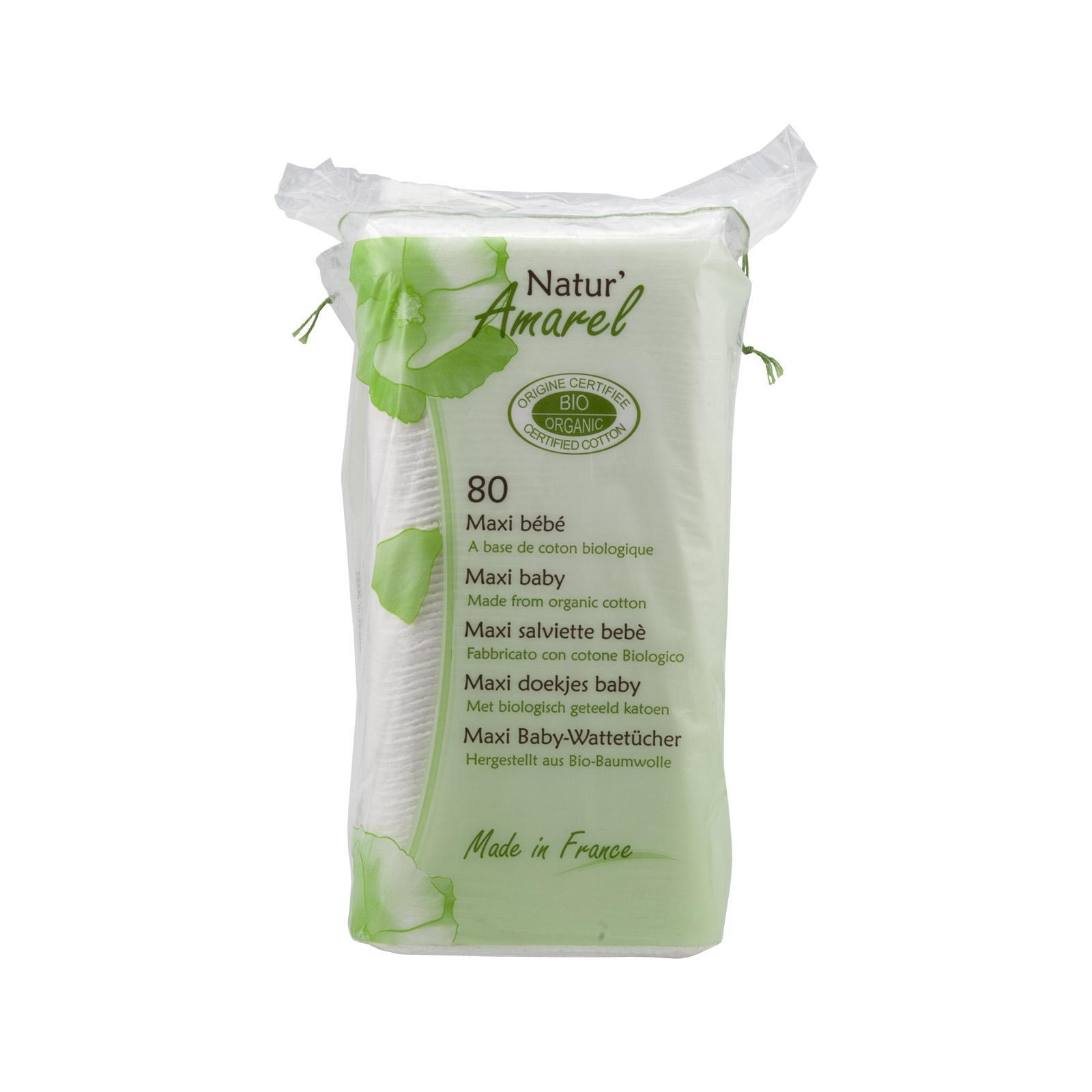 Natur Amarel Dětské čisticí tampony, maxi baby cotton pads 60 ks