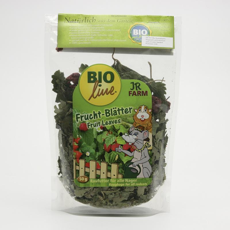 JR Farm Biopamlsky pro hlodavce, Fruit Leaves 50 g