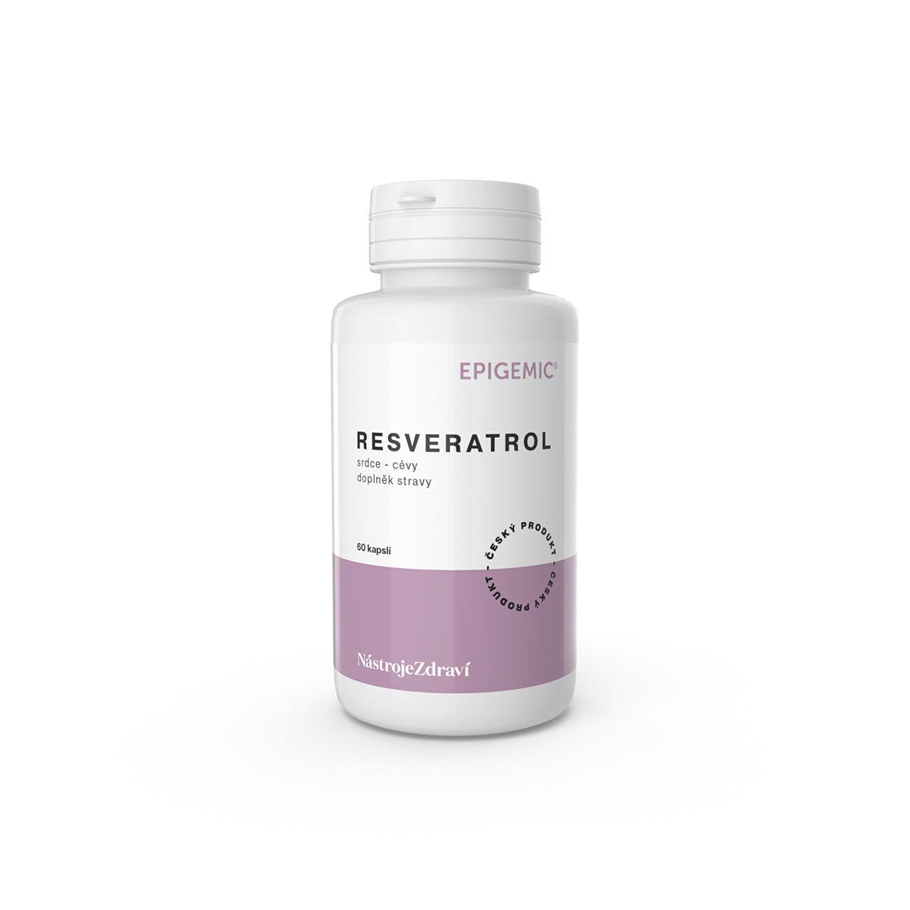 Epigemic Resveratrol, kapsle 30,5 g, 60 ks
