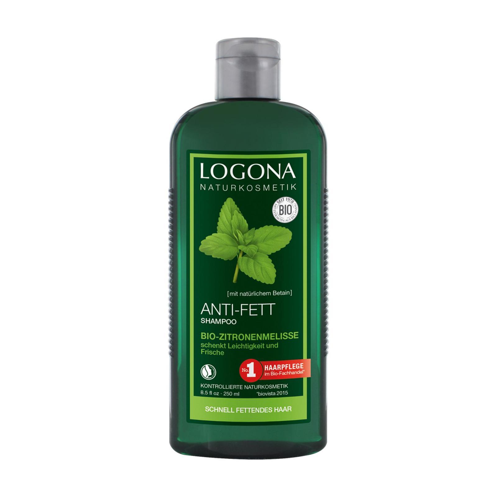 Logona Šampon pro mastné vlasy citrónová meduňka 250 ml