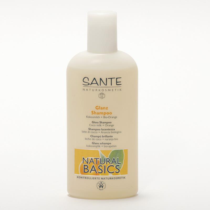 Santé Šampon kokosové mléko a bio pomeranč, Natural Basics 200 ml