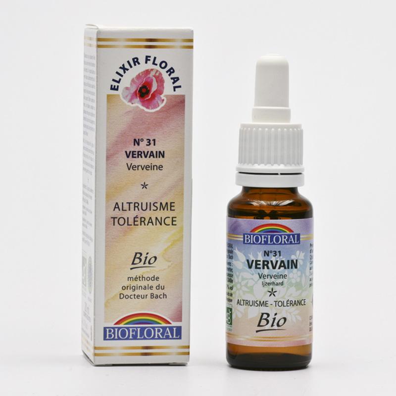 Biofloral Esence Vervain, květy Dr. Bach 20 ml