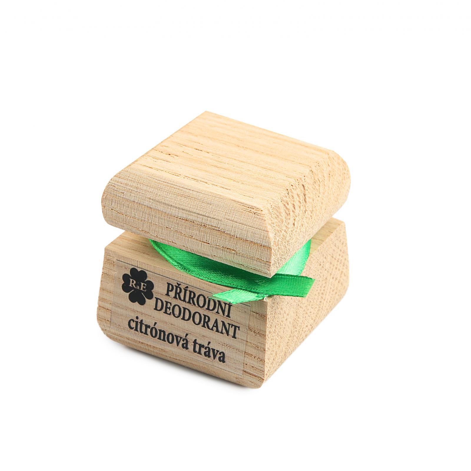 RaE Přírodní krémový deodorant s vůní citronové trávy 15 ml dřevěný obal