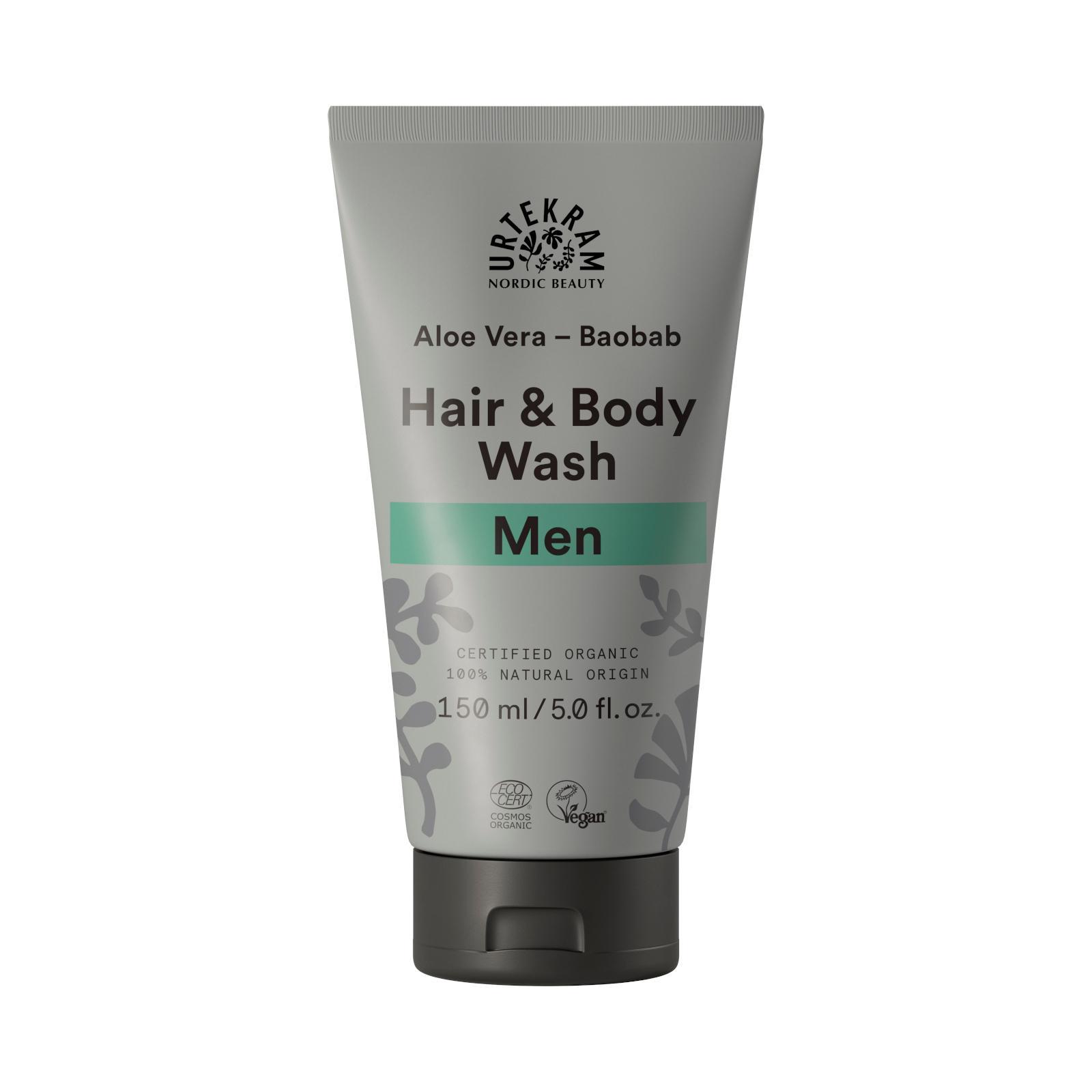 Urtekram Sprchový gel a šampon, MEN 150 ml