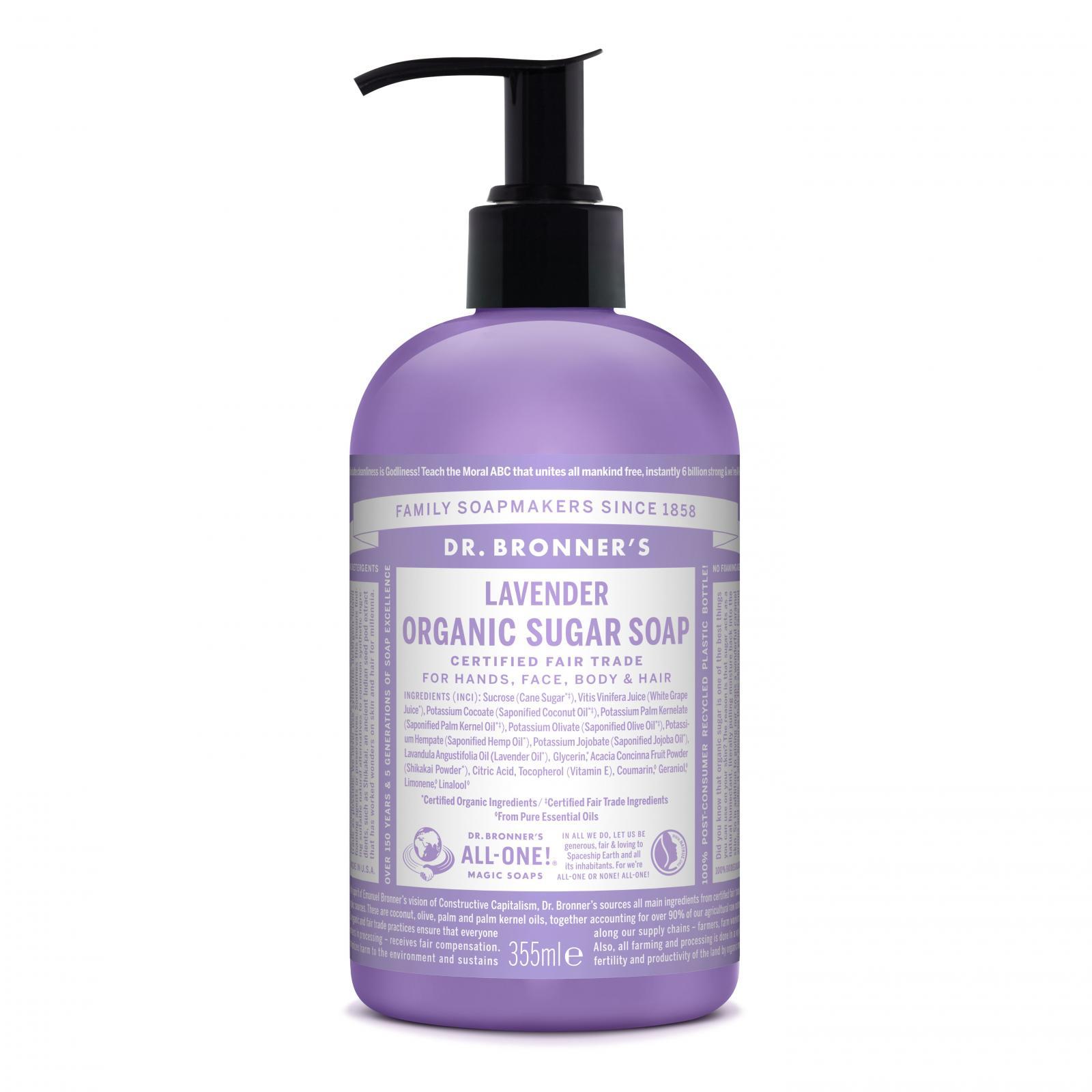 Dr. Bronner´s Tekuté mýdlo na tělo i vlasy Sugar-Shikakai, Lavender 355 ml