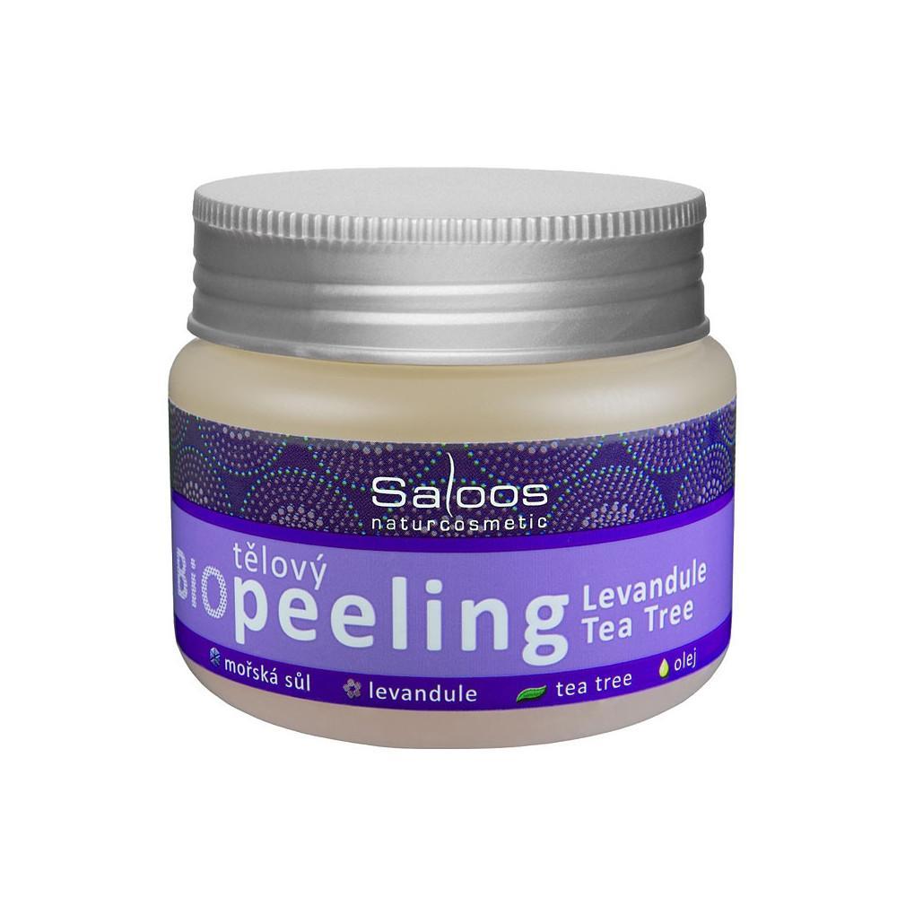 Saloos Tělový peeling levandule a tea tree 140 ml