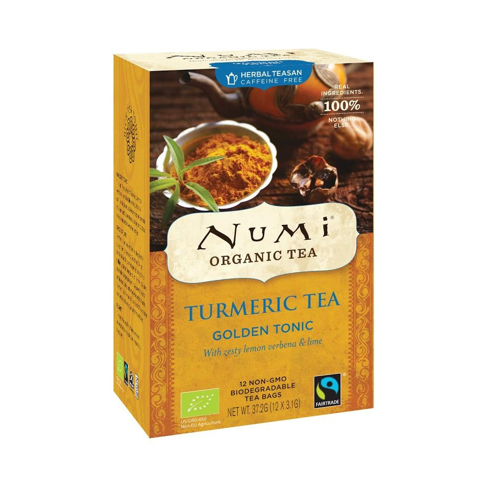 Numi Organic Tea Kořeněný čaj Golden Tonic, Turmeric Tea 37,2 g, 12 ks