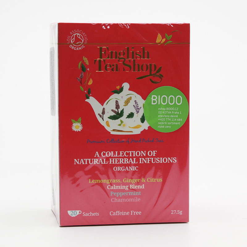 English Tea Shop Mix 4 příchutí - bylinková směs, bio 27,5 g, 20 ks