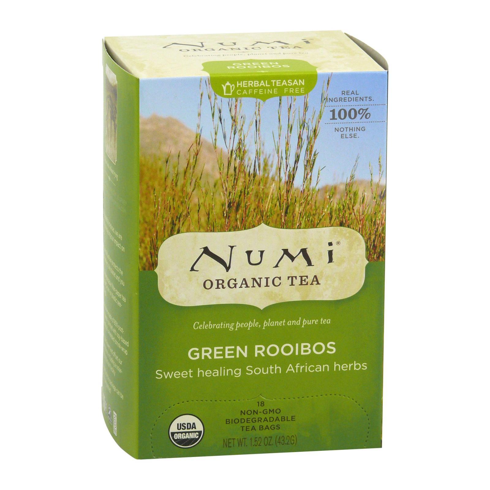 Numi Bylinný čaj Green Rooibos 18 ks, 43,2 g
