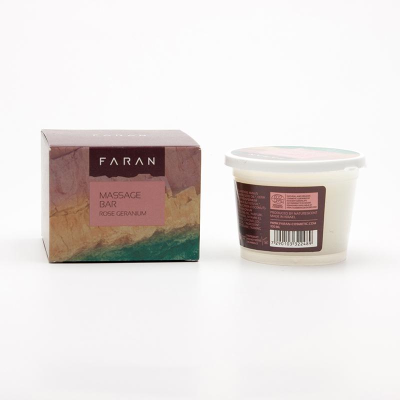 Faran Masážní blok Rose / Geranium 100 ml