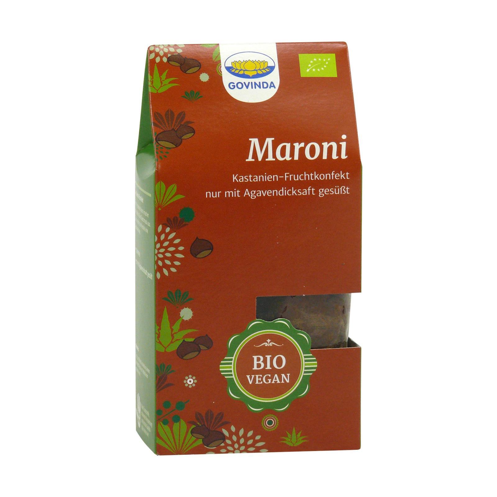 Govinda Datlové cukroví s kaštany Maroni 100 g