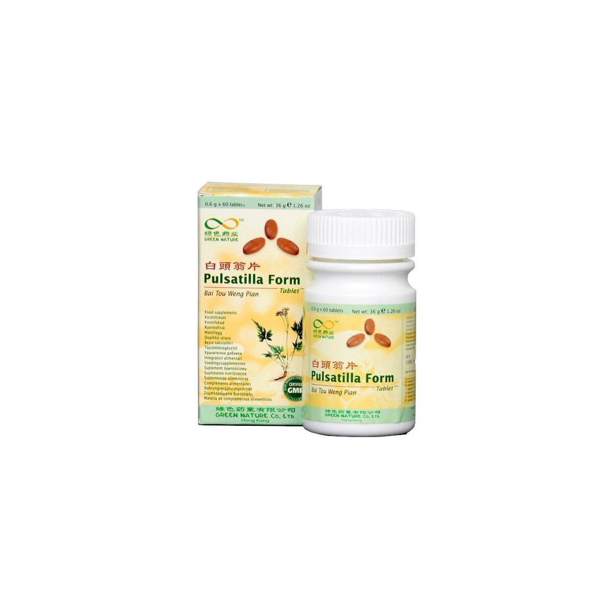 Lanzhou Pharmaceutical TCM formule 018P Bai Tou Weng Pian 60 tablet, 36 g