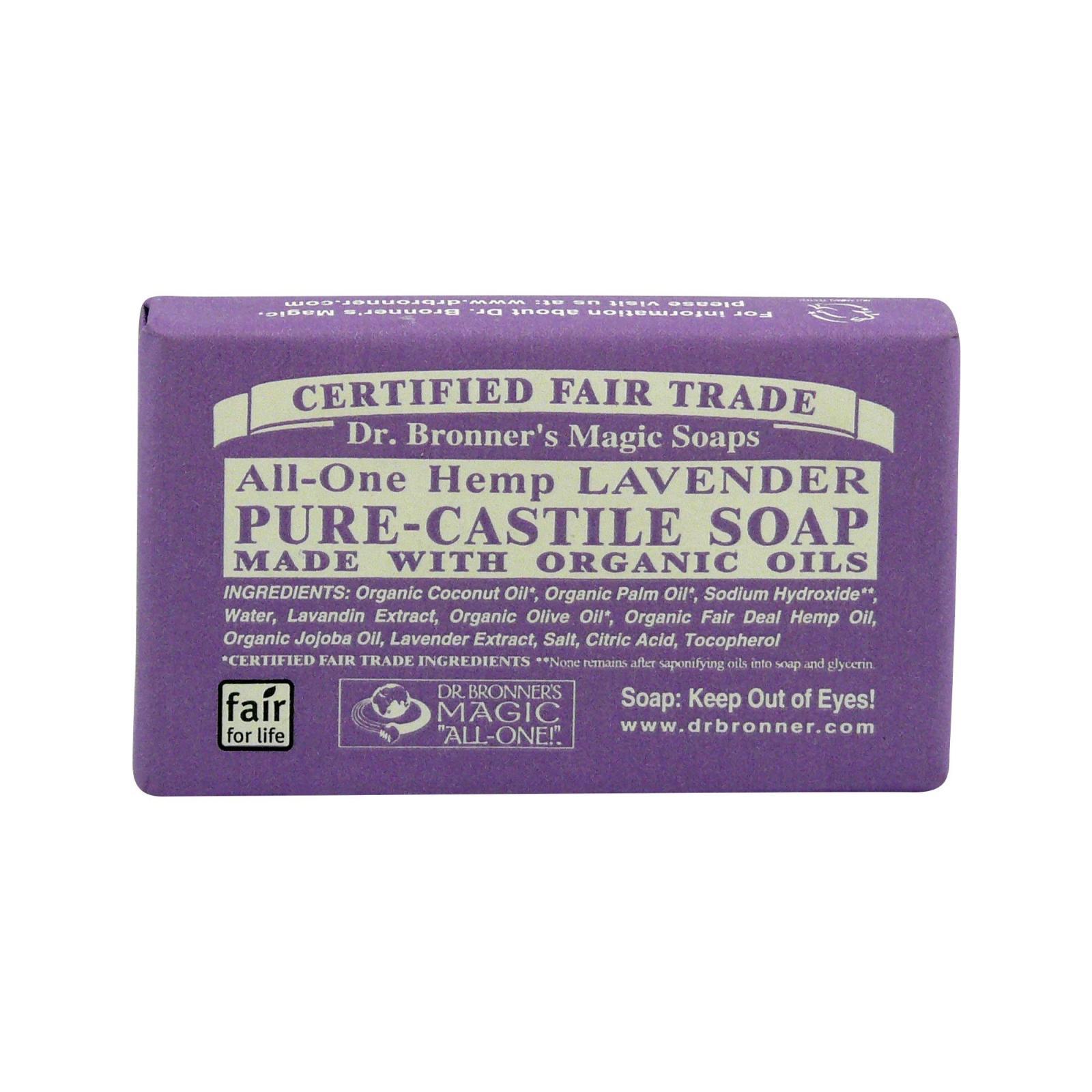 Dr. Bronner´s Tuhé mýdlo Lavender 34 g