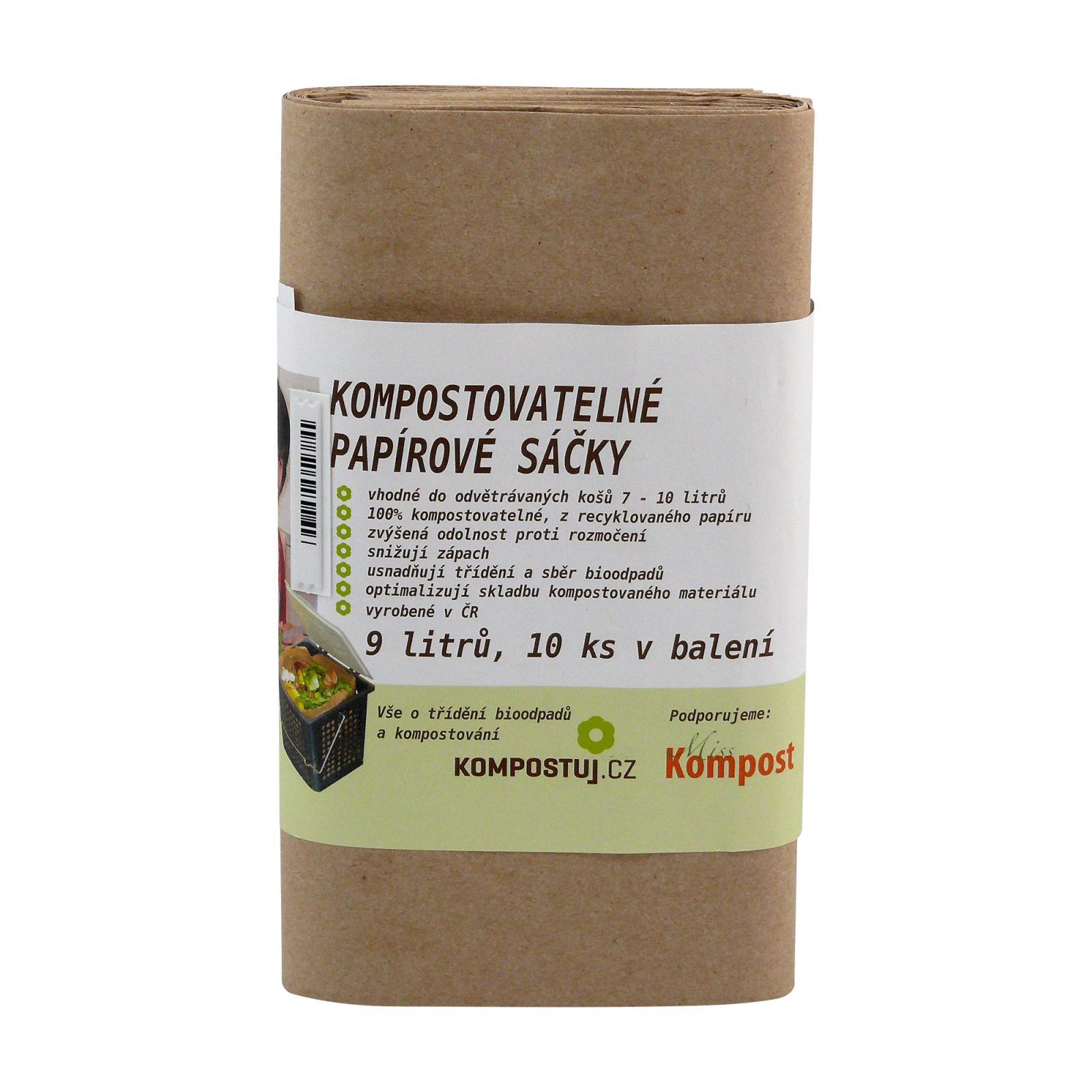 Kompostuj.cz Kompostovatelné papírové sáčky 9 l 10 ks