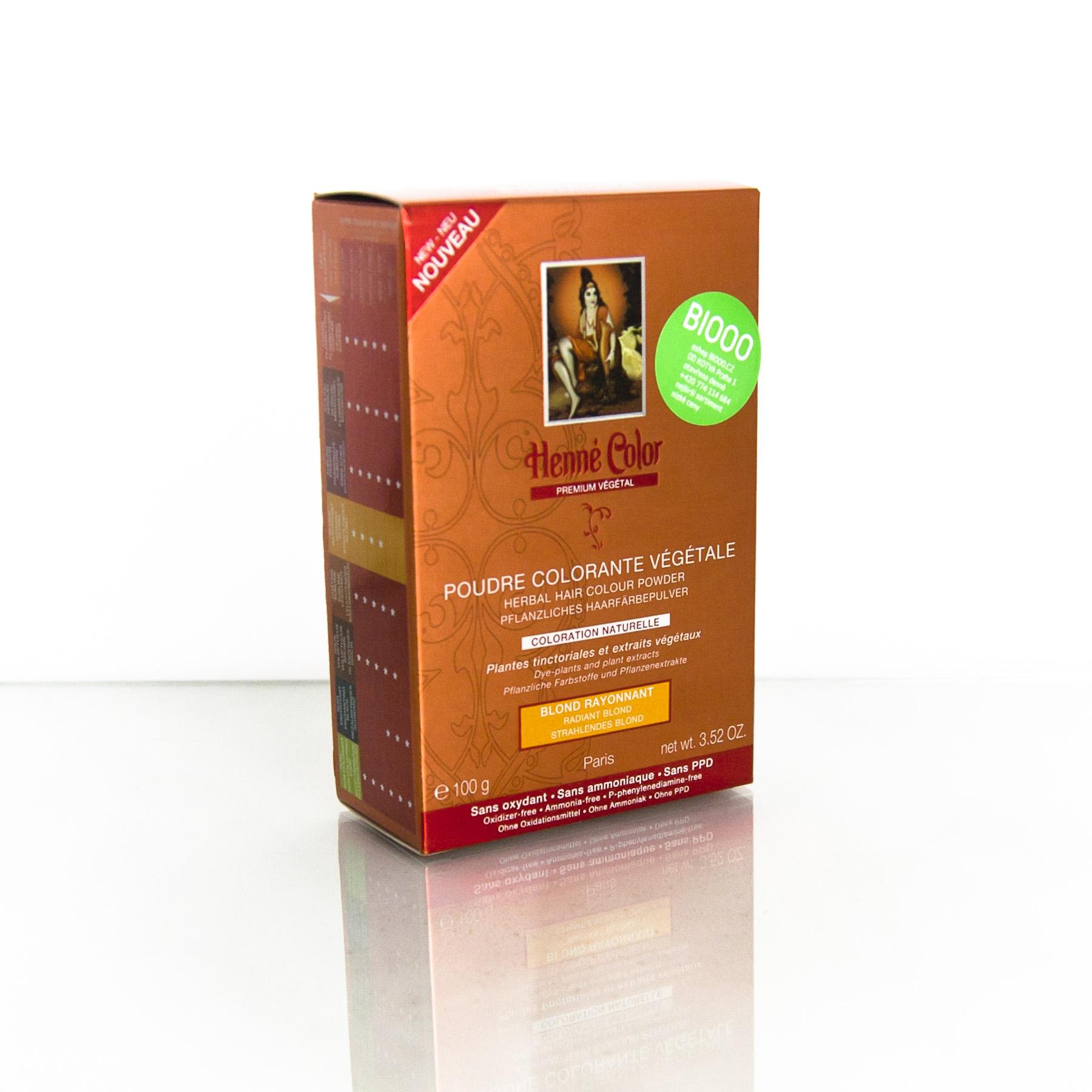 Henné Color Henna Zlatá blond, Premium Végétal 100 g