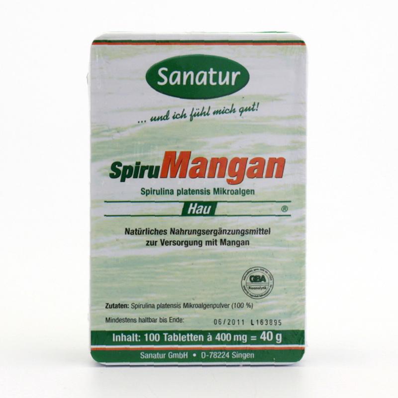 Sanatur Spiru mangan, tablety 100 tablet, 40 g
