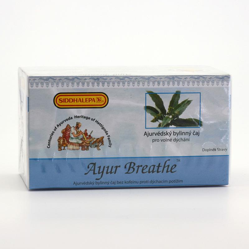 Siddhalepa Ayur Breathe, čaj pro volné dýchání 40 g, 20 ks