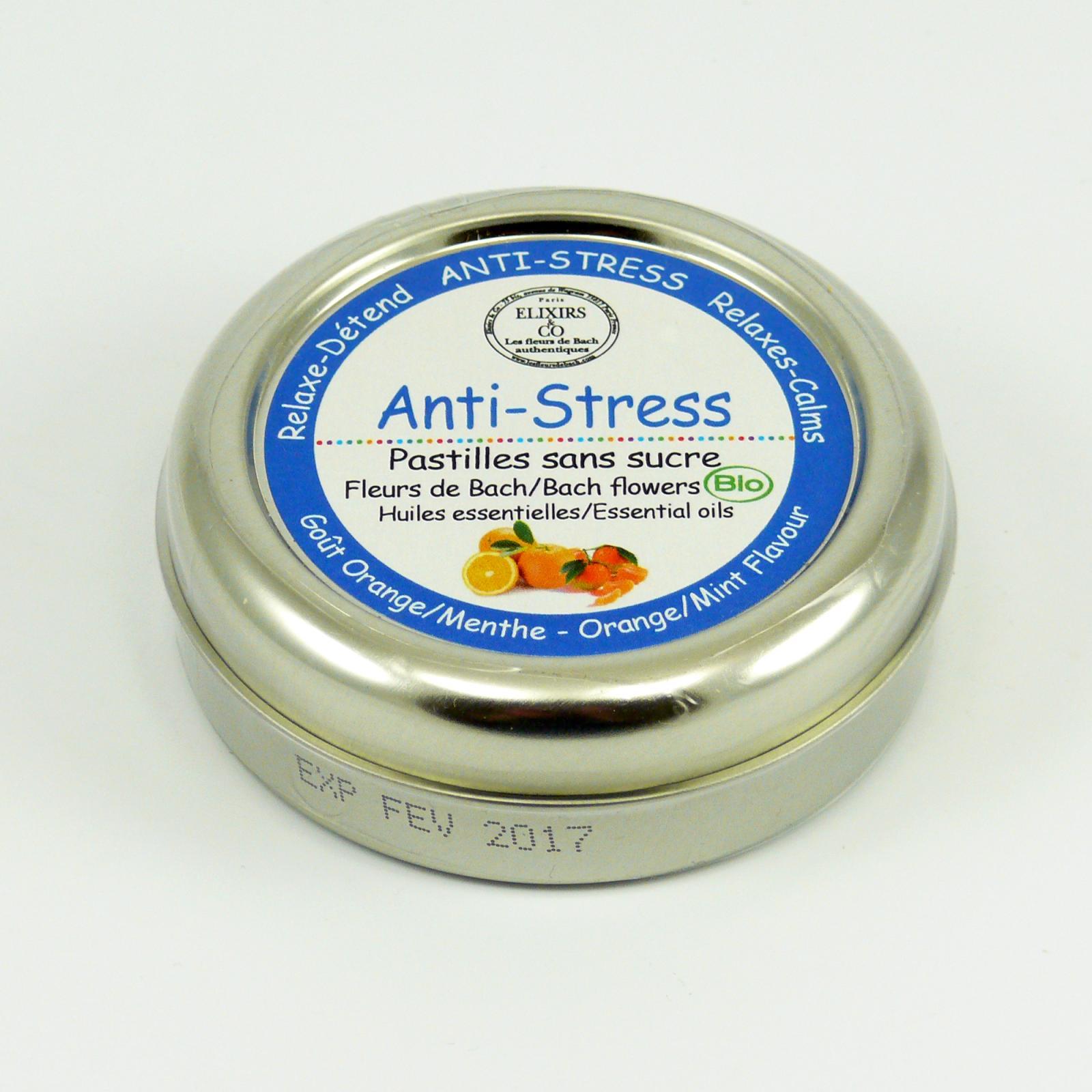 Les Fleurs de Bach Pastilky Bio-Bachovky anti-stres, pomeranč 45 g, 45 ks