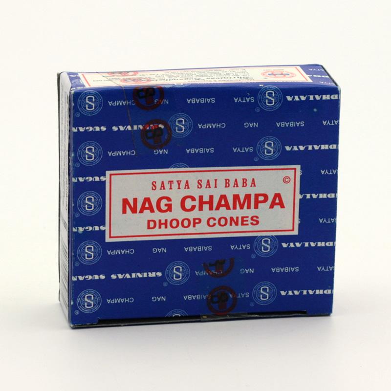 Shrinivas Sugandhalaya Vonné jehlánky indické Nag Champa 12 ks, stojánek