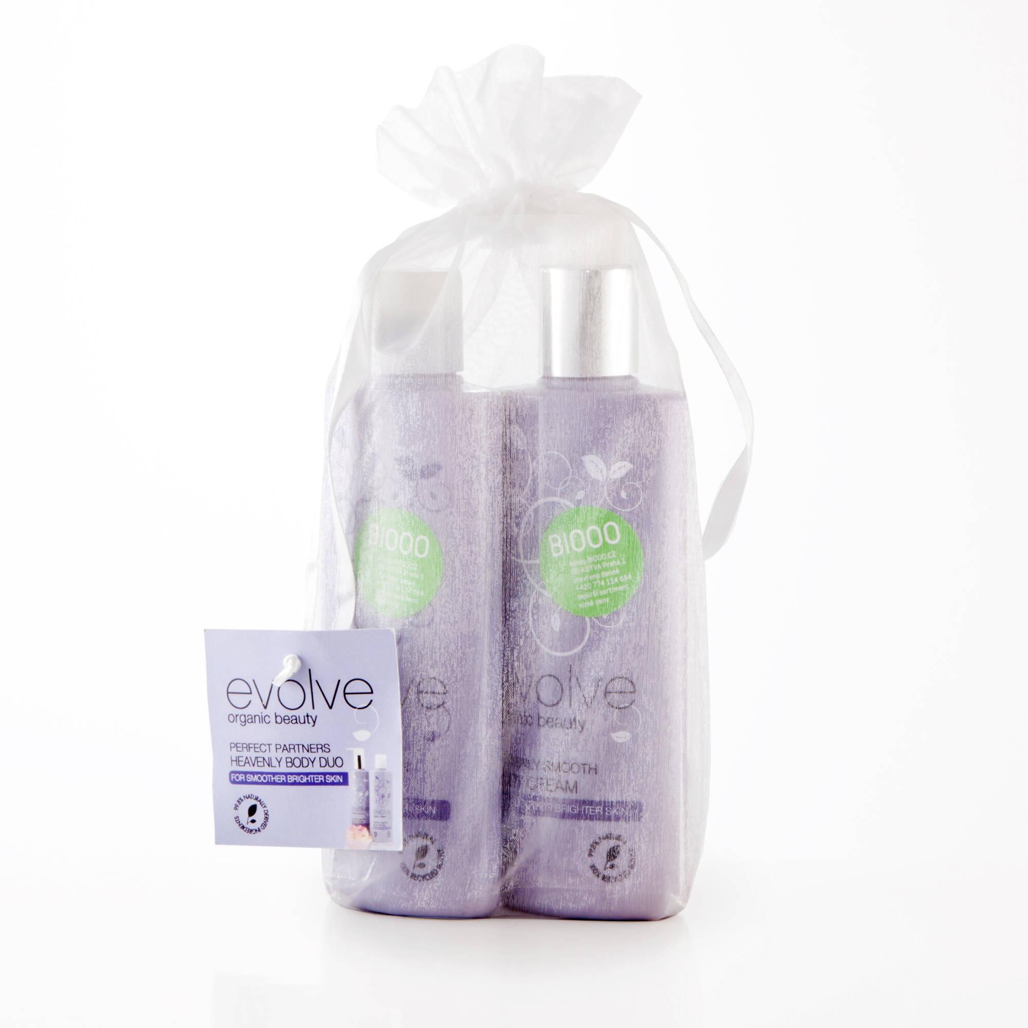 Evolve  Dokonalý pár tělové péče Heavenly Body Duo 2 x 200 ml