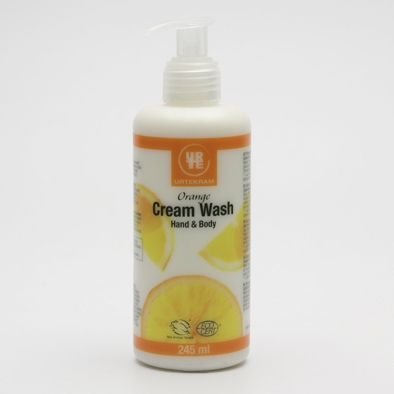 Urtekram Mýdlo krémové tekuté, pomeranč 245 ml