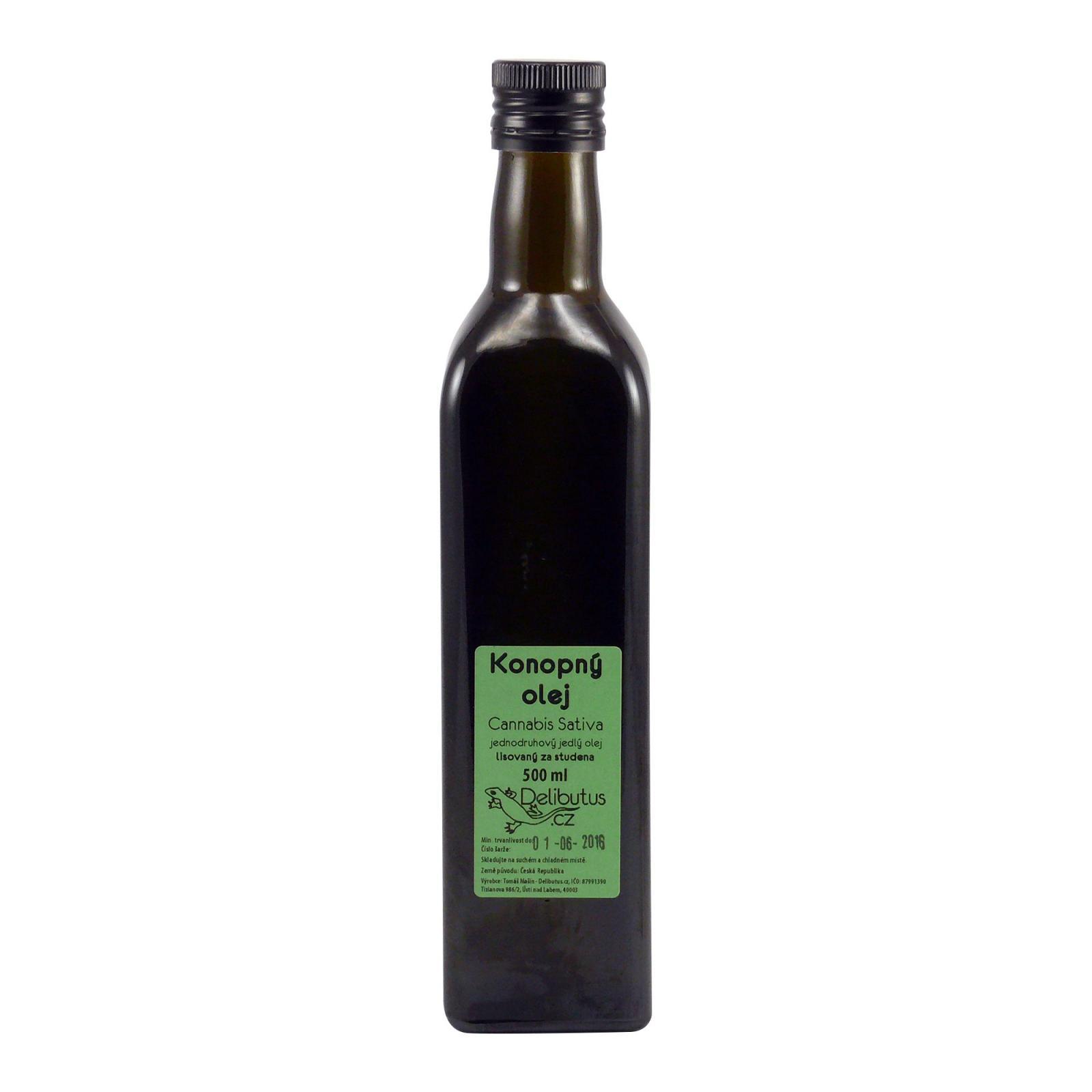 Delibutus Konopný olej 500 ml