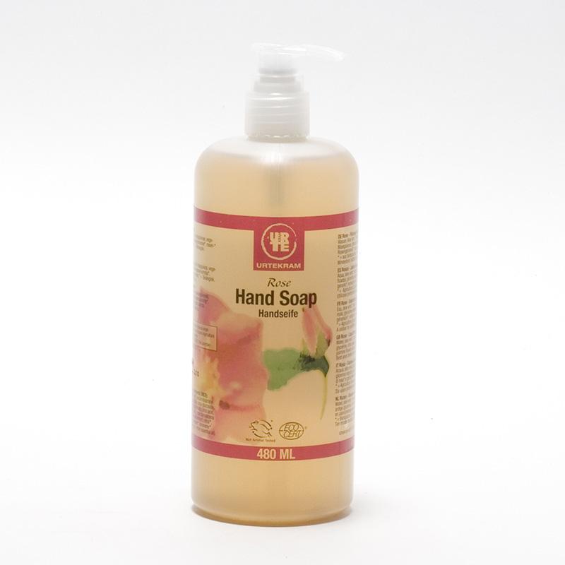 Urtekram Tekuté mýdlo na ruce růžové 480 ml