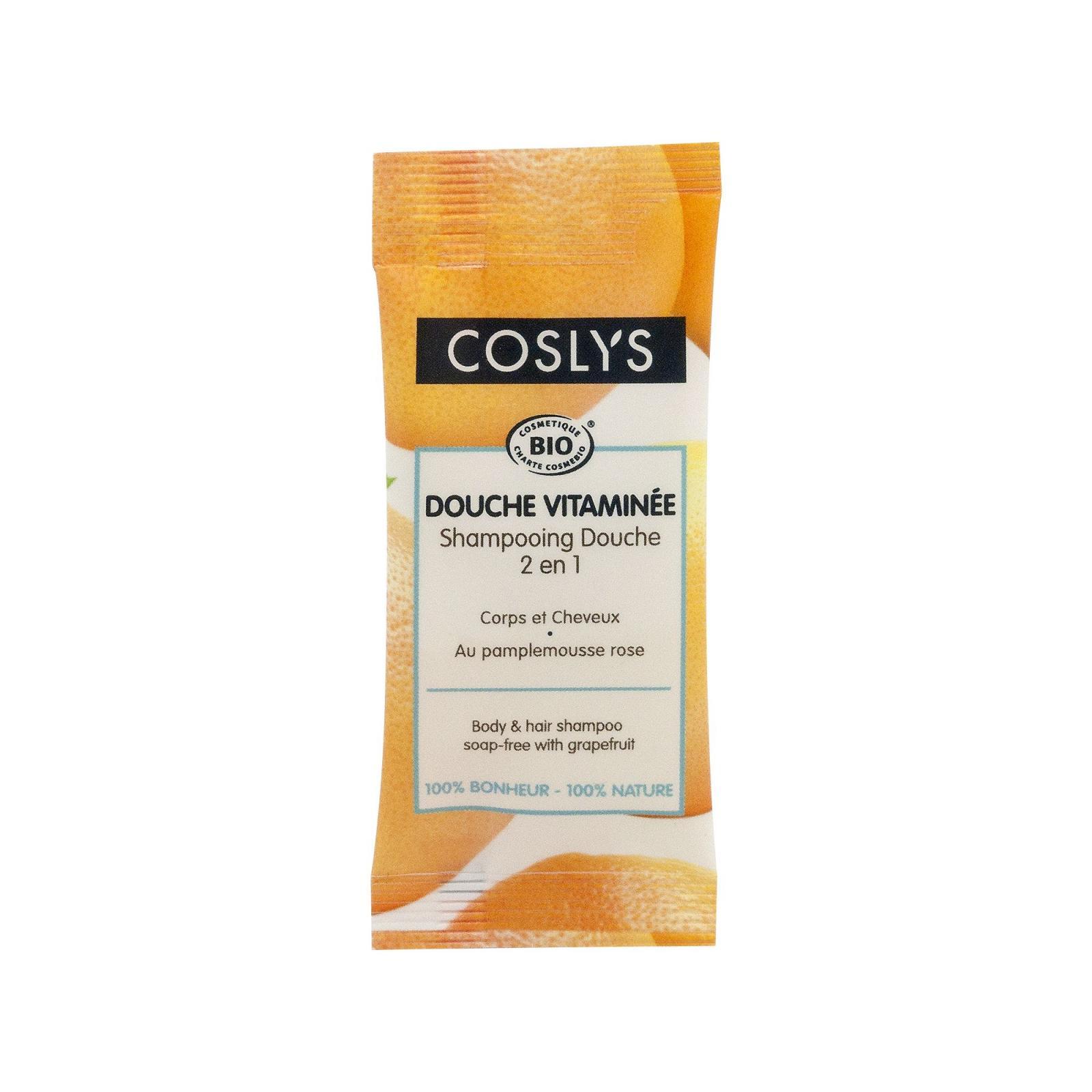 Coslys Sprchový šampon bez mýdla 2 v 1 na vlasy a tělo grep 8 ml