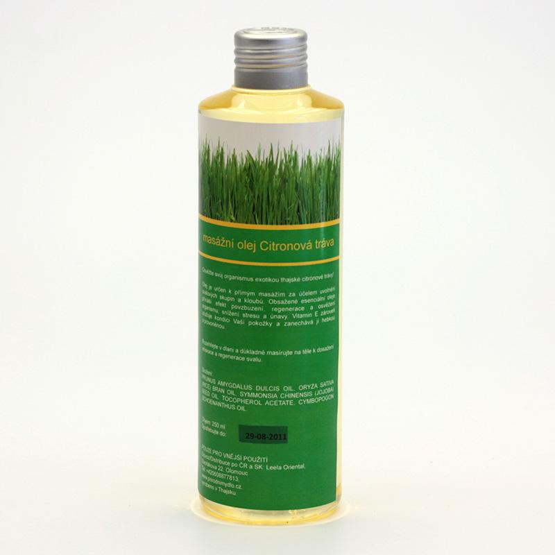 Přírodní mýdlo Masážní olej citronová tráva 250 ml