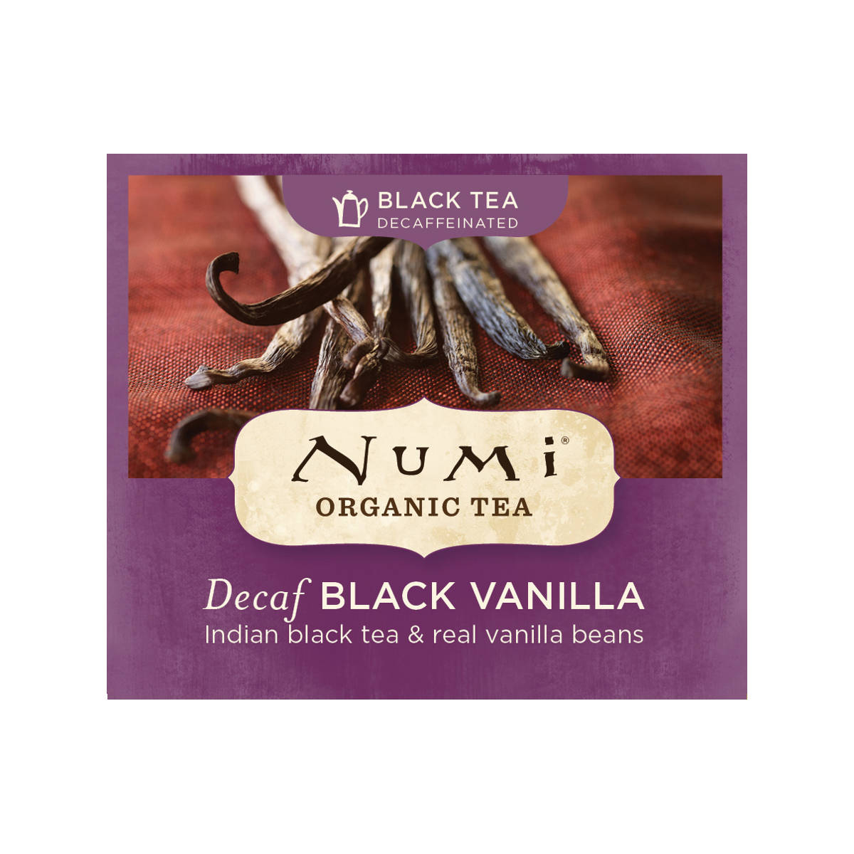 Numi Černý čaj Decaf Black Vanilla 1 ks