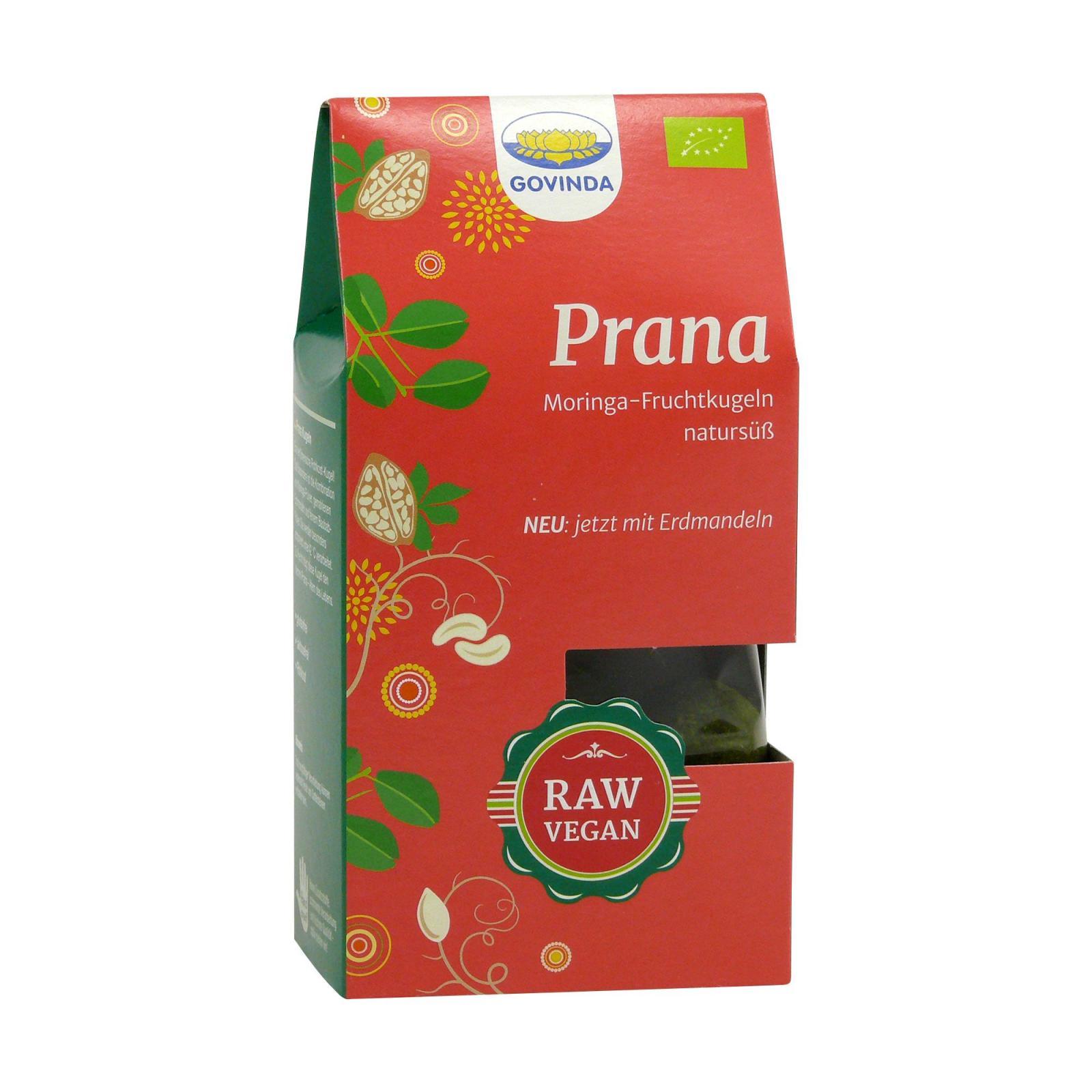 Govinda Datlové raw cukroví s moringou Prana, Bio 100 g