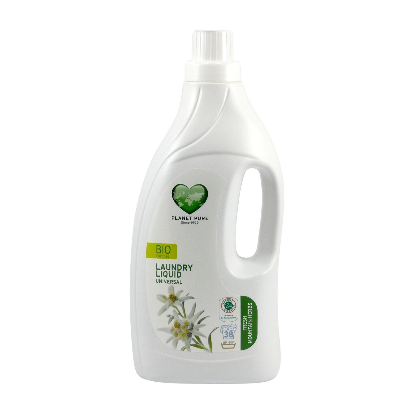 Planet Pure Bio prací gel horské byliny 1,55 l