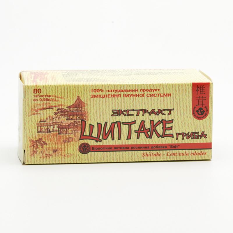 ostatní Shiitake, extrakt 80 tablet