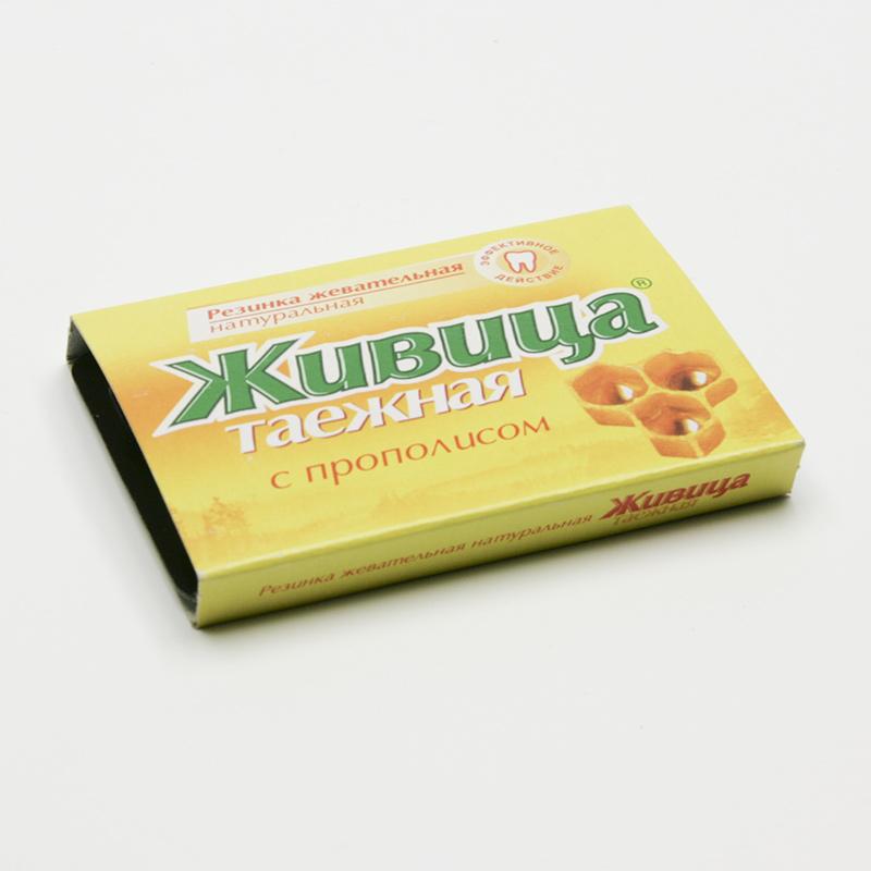 ostatní Sibiřská žvýkací pryskyřice s propolisem 5 tablet, 4 g